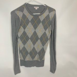 Merona Argyle Womens XS Long Sleeve